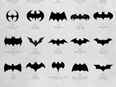 蝙蝠侠 所有logo-3d打印模型