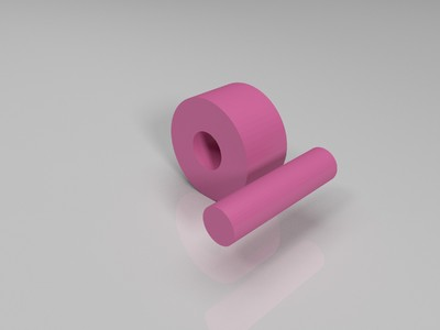 gt2皮带固定支架专用惰轮和轮轴 用于2020型材-3d打印模型