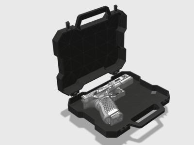 手枪枪箱-3d打印模型