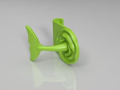 鱼尾巴手机支架-3d打印模型