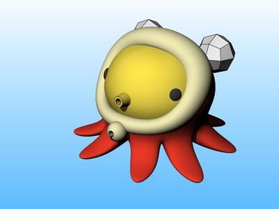 章鱼小子 可爱小玩偶-3d打印模型