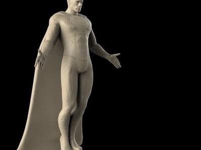 超人-神降人间-超精雕刻-3d打印模型