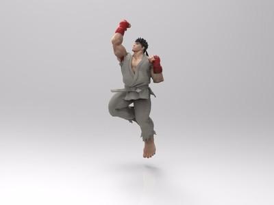 街头霸王-隆-精雕-3d打印模型