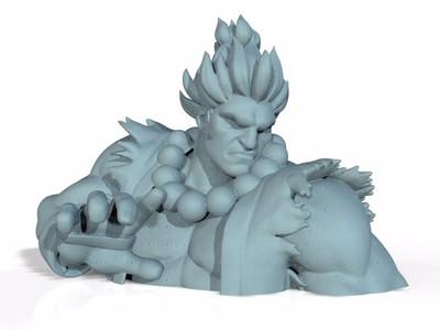 街头霸王 豪鬼精雕-半身像,全身像-3d打印模型