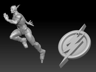 漫画版闪电侠-精雕-3d打印模型