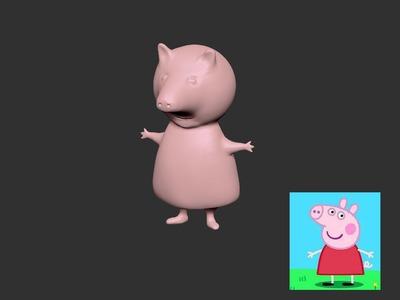 小猪佩奇3d版-3d打印模型