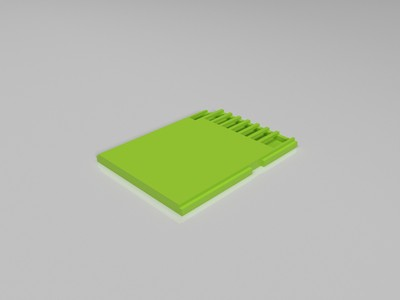 SD卡-3d打印模型