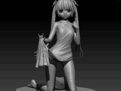 穹妹 手办 左手臂部分分件 -3d打印模型