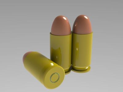 .45子弹-3d打印模型