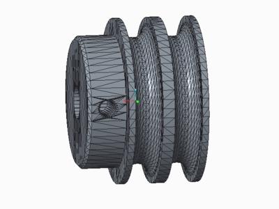 双槽皮带轮-3d打印模型