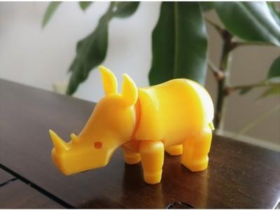 犀牛(可活动)-3d打印模型