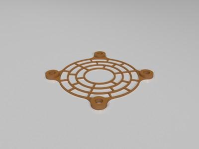 40mm(4cm)风扇过滤网罩-3d打印模型