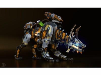 地平线:黎明时分 机械兽-3d打印模型