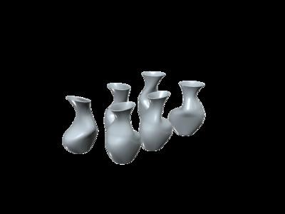 抽象花瓶  合集-3d打印模型