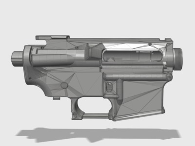 M4水弹枪机匣(适用锦明8波箱)-3d打印模型
