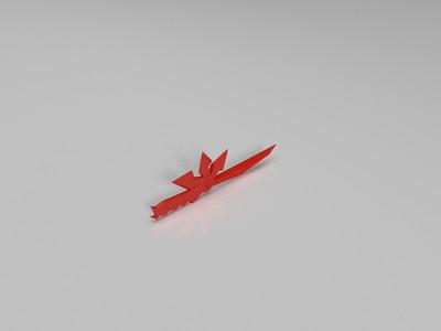 六芒刀-3d打印模型