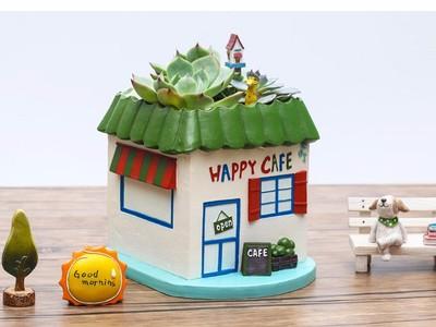 创意花盆—咖啡小屋-3d打印模型