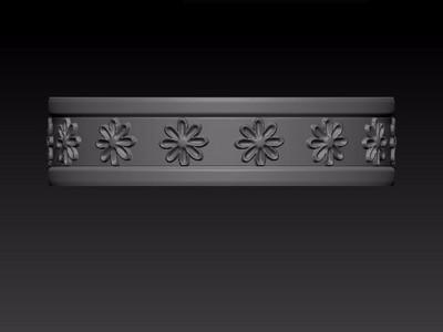 花朵戒指-3d打印模型