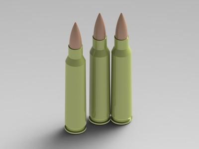 5.56x45 NATO 子弹-3d打印模型