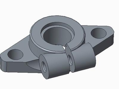 卧式轴座(直接10)-3d打印模型