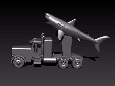 鲨鱼导弹-3d打印模型