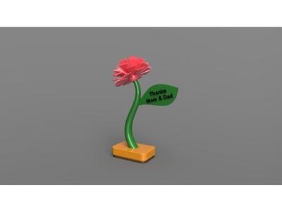 母亲节鲜花-3d打印模型