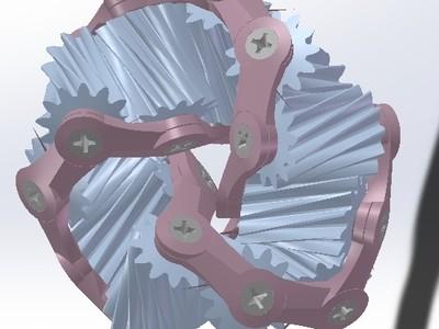莫比乌斯齿轮环-3d打印模型