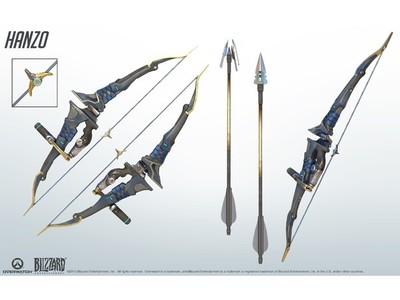 守望先锋  半藏的弓箭(分件)-3d打印模型