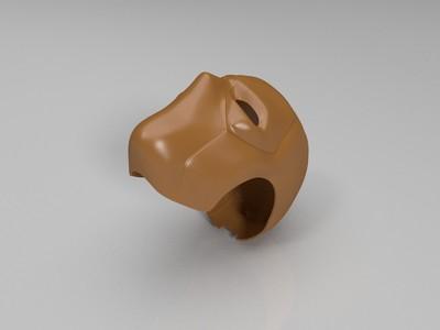 死侍头盔 完美切割分件-3d打印模型