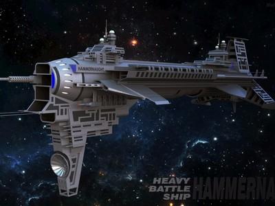 超精细级,宇宙战舰-3d打印模型