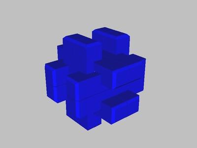鲁班锁-笼中取宝-3d打印模型