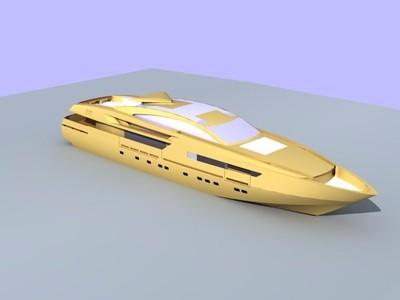 豪华游艇-3d打印模型
