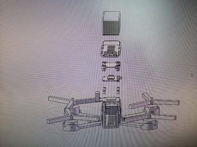 FPV穿越机-3d打印模型