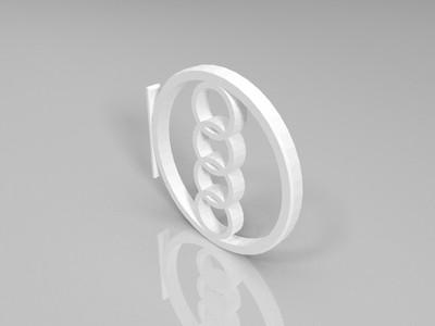 奥迪logo-3d打印模型