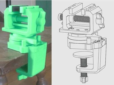 多功能台钳-3d打印模型