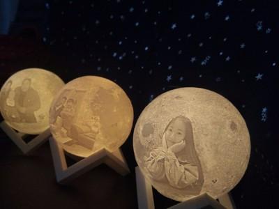 月球灯13cm小姐姐-3d打印模型