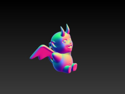 小恶魔-3d打印模型
