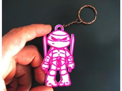 忍者神龟钥匙扣-3d打印模型
