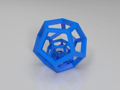 正十二面体三层-3d打印模型