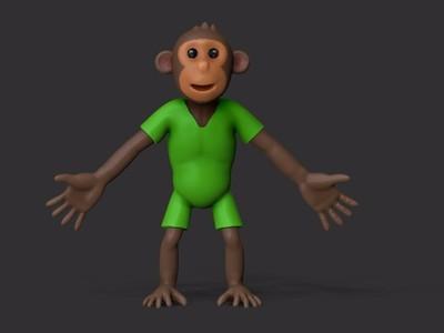 猴子-3d打印模型