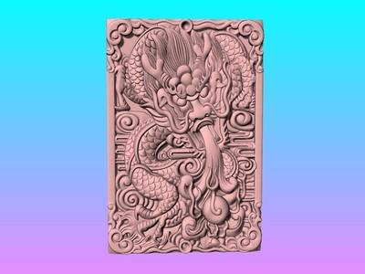 经典玉雕系列-龙吐珠 1 -3D打印-3d打印模型
