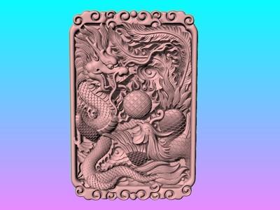 经典玉雕系列-游龙戏凤 1 -3D打印-3d打印模型