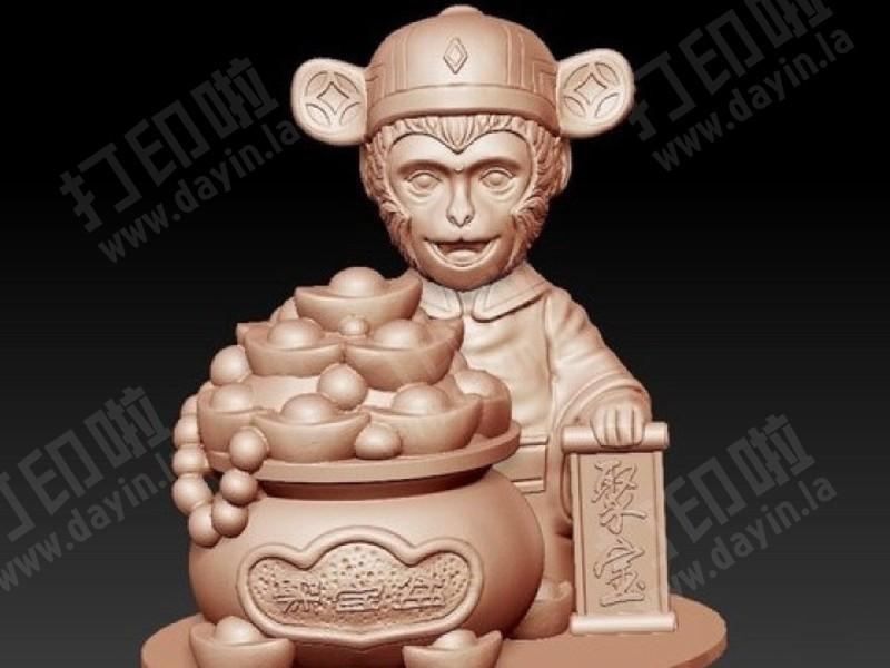 金猴聚宝-3d打印模型