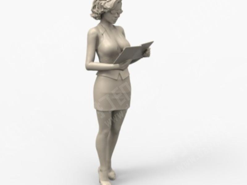 女老师-3d打印模型