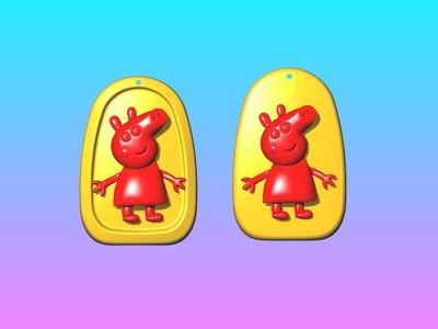 动漫吊饰 - 小猪佩奇吊饰-3d打印模型