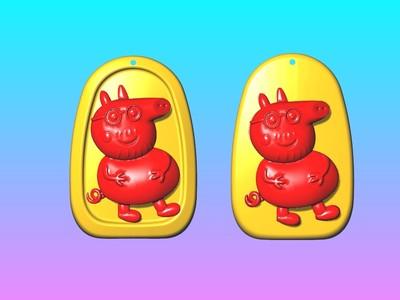 动漫吊饰 - 小猪爸爸吊饰-3d打印模型