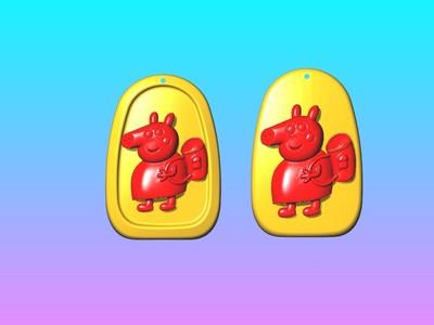 动漫吊饰 - 小猪猪妈妈吊饰-3d打印模型