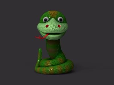 蛇-3d打印模型