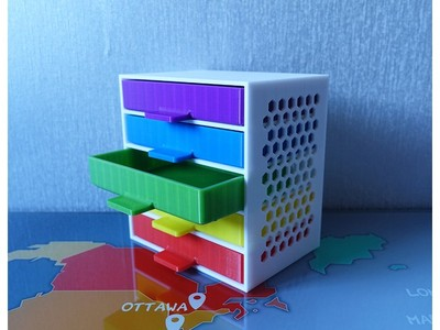 办公室 收纳盒-3d打印模型