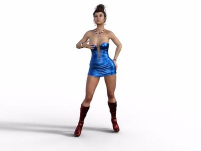 性感美女模特-3d打印模型